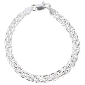 Armband 925 Sterling Silber poliert, ca. 20 cm