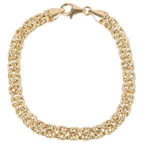 Königsarmband Sterling Silber, vergoldet