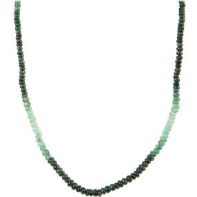 Smaragdcollier grün, mit 925 Karabiner