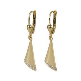 Ohrhänger 925 Silber vergoldet, Zirkonia