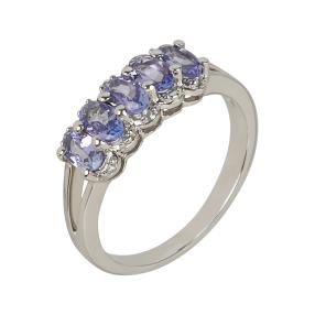 Ring 925 Silber, AATansanit & Weißtopas