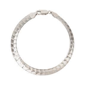Fantasiearmband 925 Sterling Silber 19 cm
