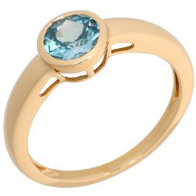 STAR Ring 750 Gelbgold, blauer AAAZirkon