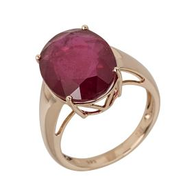Ring 585 Roségold, Rubin behandelt