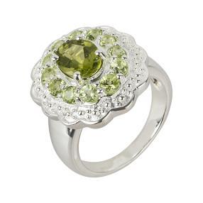 Ring 925 Sterling Silber Peridot