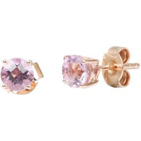 Ohrstecker 925 Sterling Silber, pink Amethyst