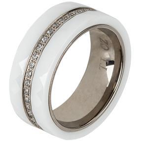 Ring Titan, Keramik  weiß Zirkonia