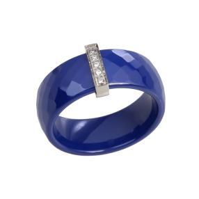 Keramikring blau Edelstahl Zirkonia