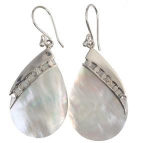 Ohrhänger 925 Sterling Silber Perlmutt