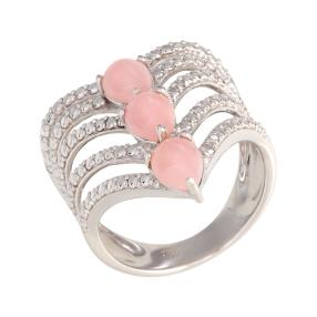 Ring 925 Sterling Silber pink Opal