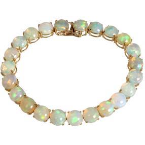 STAR Armband 585 Gelbgold AAAKristall-Opal