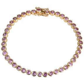 STAR Armband 585 Gelbgold Pink Saphir