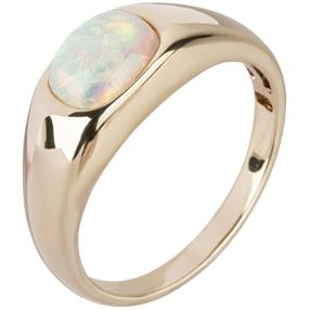 STAR Ring 750 Gelbgold AAAKristall-Opal
