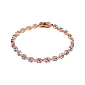 Armband 925 St. Silber rosévergoldet Tansanit