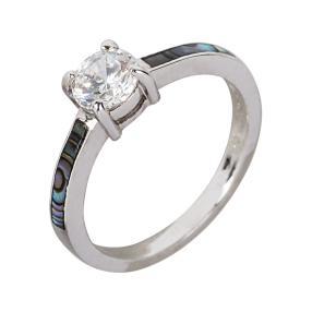 Ring 925 Sterling Silber Abalone Muschel Zirkonia