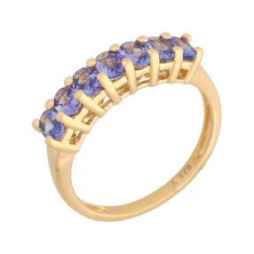 Ring 925 Sterling Silber vergoldet AATansanit