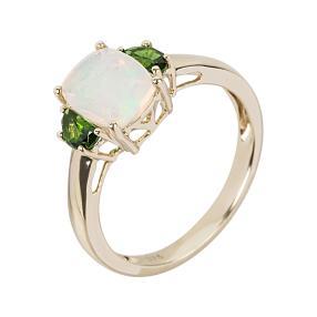 Ring 375 Gelbgold Äthiopischer Opal
