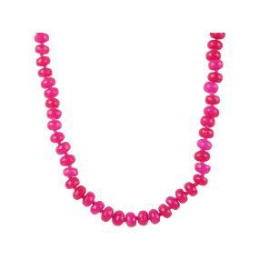 Collier mit gefärbter Jade, pink, ca. 48 cm