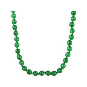 Collier Jade, grün, ca. 48 cm