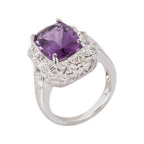 Ring 925 Sterling Silber Amethyst, Weißtopas