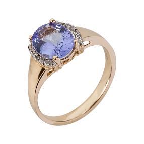 Ring 585 Gelbgold AA+Tansanit