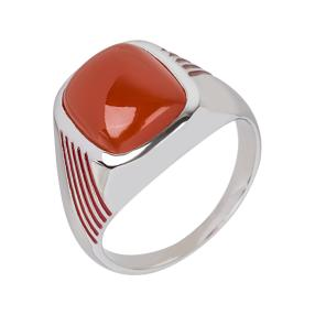 Ring 925 Sterling Silber, Karneol