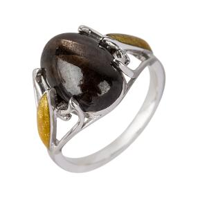 Ring 925 Sterling Silber Chocolate Saphir
