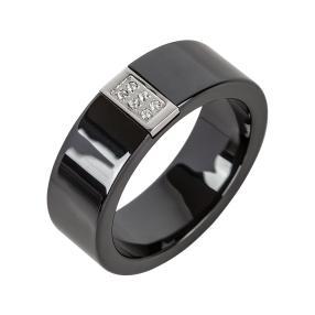 Ring Keramik/Edelstahl, Zirkonia