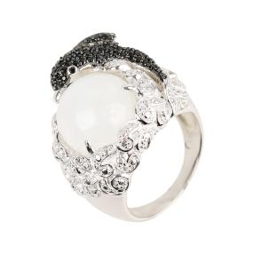 Ring 925 Sterling Silber Mondstein, Spinell