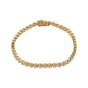 Armband 925 St. Silber vergoldet Zirkonia