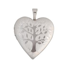 Medaillon 925 Sterling Silber Lebensbaum