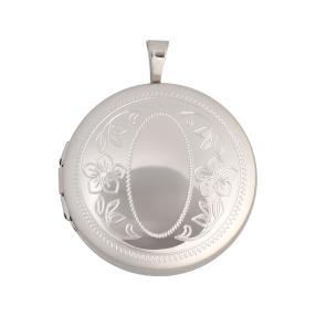 Medaillon 925 Sterling Silber, rund