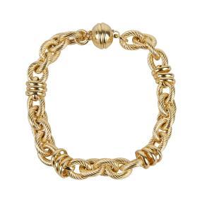 Ankerarmband Bronze vergoldet ca. 19,5 cm.