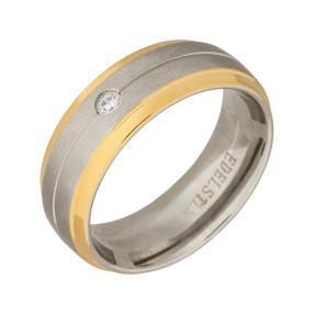 Ring Edelstahl bicolor