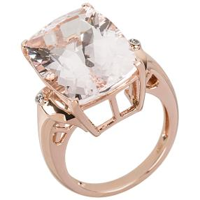 Ring 585 Roségold Morganit