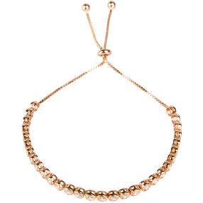 Tennisarmband 925 Sterling Silber, rosevergoldet