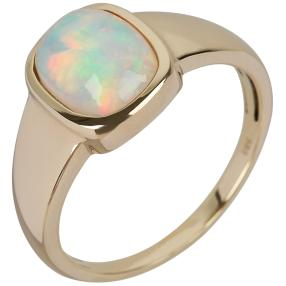 STAR Ring 585 Gelbgold AAAKristall-Opal