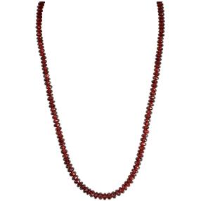 Collier Granat, ca. 45 + 5 cm