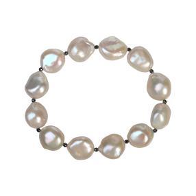 Armband Keshi Perlen, ca. 20 cm