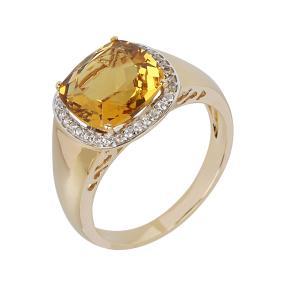 Ring 585 Gelbgold, Goldberyll
