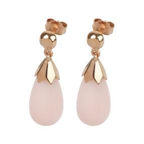 Ohrhänger 925 St. Silber vergoldet Pink Opal