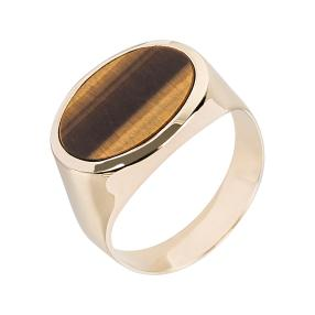 Ring 585 Gelbgold Tigerauge