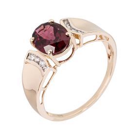 Ring 375 Gelbgold, Granat & Zirkon