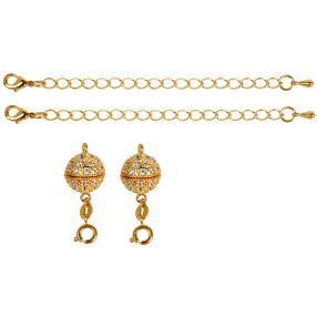 Luxury Clip goldfarben 4-teilig
