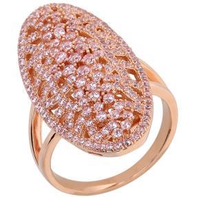 Ring 925 Sterling Silber rosevergoldet Zirkonia