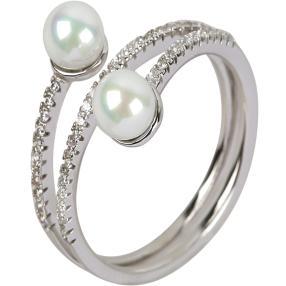 Ring 925 Sterling Silber Süßwasserzuchtperle