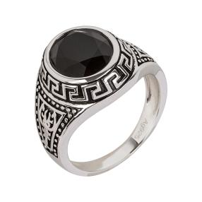 Ring 925 Sterling Silber, Onyx