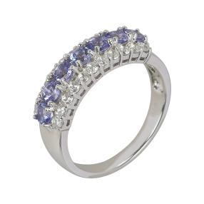 Ring 925 Sterling Silber, Tansanit