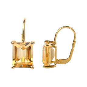 Ohrhänger 925 Sterling Silber vergoldet Citrin