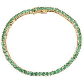 Armband 585 Gelbgold Sambia Smaragd